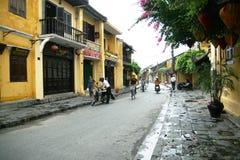 Nouveau matin en ville antique de Hoi An, le Vietnam photos stock