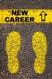 Nouveau message de carrière Image conceptuelle Image libre de droits