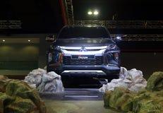 Nouveau Mitsubishi Triton, actionné par des 2 4 moteur de turbodiesel du litre MIVEC et avancé photographie stock libre de droits