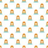 Nouveau modèle d'avatar de femme sans couture illustration de vecteur