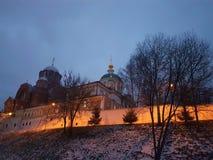 Nouveau monast?re de Sofrino pr?s de rivi?re de Moscou La Russie Russie photographie stock libre de droits