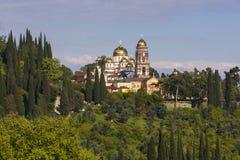Nouveau monastère orthodoxe d'Afon, Abkhazie Photo stock