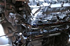 Nouveau moteur 2018 de BMW sur l'affichage au salon de l'Auto international nord-américain Image stock