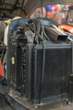 Nouveau moteur tracteur diesel agricole moderne Nouveau moteur de pointe moderne de chargeur ou de petit tracteur Vue supérieure  photos libres de droits