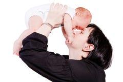Nouveau-né avec la mère Images libres de droits