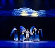 ` Nouveau-né-bleu de danse du ` s de vague-Huang Mingliang de mer aucun ` d'abri Photos stock