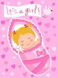 Nouveau-né Enfant de vecteur Le bébé est endormi Sommeils de bébé Photos libres de droits