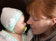 Nouveau-né et mère Photographie stock libre de droits