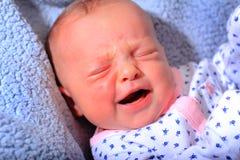 Nouveau-né malheureux Images libres de droits