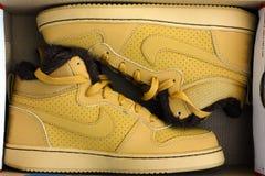 Nouveau Nike vont au devant de mi chaussures de sport d'hiver de ville dans la boîte Photo stock