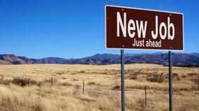 Nouveau panneau routier de brun du travail Image libre de droits