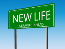 Nouveau panneau routier de la vie illustration libre de droits