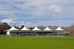 Nouveau pavillon ovale de cricket de Hagley ouvert à Christchurch images libres de droits