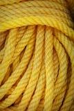 Nouveau plan rapproché jaune de corde Image libre de droits