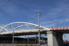 Nouveau pont blanc image libre de droits