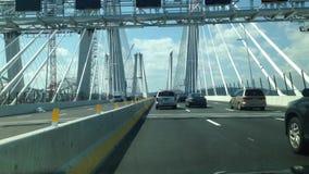 Nouveau pont de Tappan Zee à New York banque de vidéos