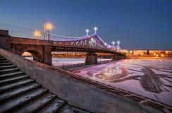 Nouveau pont Starovolzhsky Photographie stock