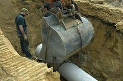 Nouveau réseau d'égouts de construction, Pays-Bas Photos stock