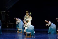 Nouveau rêve de ` de š de ¼ d'actï de la nuit-Le trois de mariage de déchiqueter le ` en soie - ` en soie de princesse de danse d Image stock