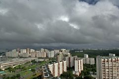 Nouveau secteur de Moscou Images libres de droits