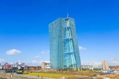 Nouveau siège de la Banque Centrale Européenne à Francfort Photographie stock