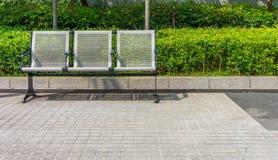 Nouveau siège moderne en métal avec la perforation Images stock
