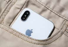Nouveau téléphone intelligent d'Iphone X Plus nouvel Apple Iphone 10 Photos stock