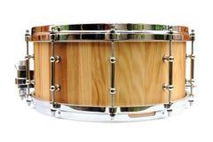 Nouveau tambour de piège en bois d'isolement Photographie stock libre de droits