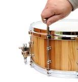 Nouveau tambour de piège en bois de accord principal d'isolement photographie stock libre de droits