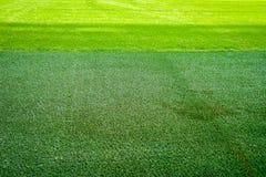 Nouveau terrain de jeu de nouvelle texture naturelle d'herbe verte Photographie stock libre de droits