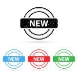 Nouveau timbre de vecteur Images stock