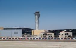 Nouveau tour de contrôle d'aéroport international de Ben Gurion Image libre de droits