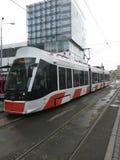 Nouveau tram moderne Photo libre de droits