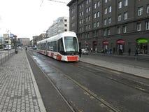 Nouveau tram moderne Photos stock