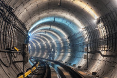 Nouveau tunnel de souterrain Photo stock