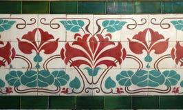 Nouveau viejo del arte del azulejo foto de archivo libre de regalías