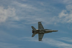 NOUVEAU WINDSOR, NY - 3 SEPTEMBRE 2016 : L'évolution de F 18 Horne image libre de droits