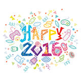 Nouveau year-2016 Geeky ringard Photographie stock libre de droits