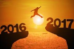 Nouveau year2017 heureux Photo libre de droits