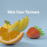 Nouveaux agriculteurs de location Image libre de droits