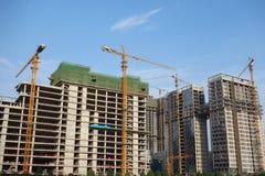 Nouveaux bâtiments de construction Images stock
