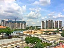 Nouveaux bâtiments en construction Photo stock