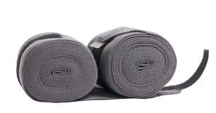 Nouveaux bandages gris de tricots de cheval d'isolement sur le blanc Photos libres de droits
