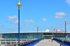 Nouveaux Brighton Pier Christchurch - Nouvelle-Zélande photo stock