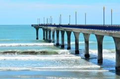 Nouveaux Brighton Pier Christchurch - Nouvelle-Zélande photographie stock