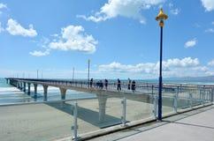 Nouveaux Brighton Pier Christchurch - Nouvelle-Zélande images libres de droits