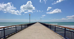 Nouveaux Brighton Pier Christchurch - Nouvelle-Zélande image stock