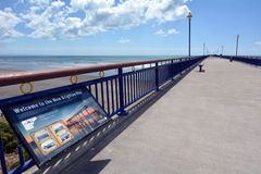 Nouveaux Brighton Pier Christchurch - Nouvelle-Zélande photo libre de droits