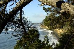 Nouveaux Brighton State Beach et terrain de camping, Capitola, la Californie image stock