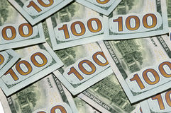 Nouveaux cent billets d'un dollar Photo libre de droits